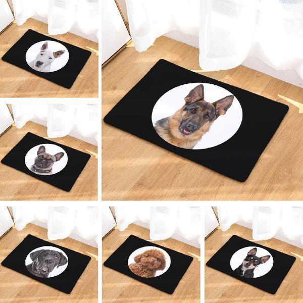 Tapis de bain Chien Imprimé Salon Tapis 50x80cm Toilette Tapis Salle de bain Paillasson En Plein Air Cuisine Tapis Plancher En Gros