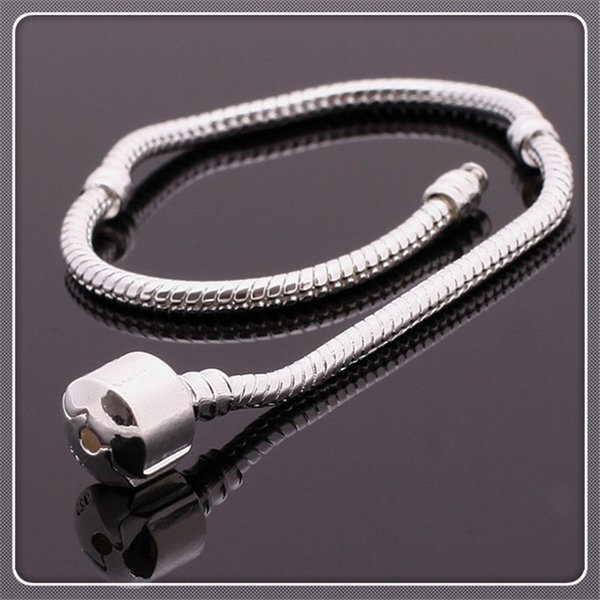 New Gift for Women Snake Chain BraceletBuckle DIY Charms Fashion Beads Jewelry Original Pan Bracelets Bangles Gifts for Women Free DHL