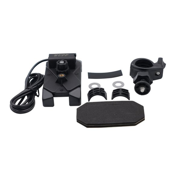 Universal 3.5-6 Inch Motorcycle Bikes Mobile Phone Bracket Mount Holder fixed handlebar Support With A USB Charging Port