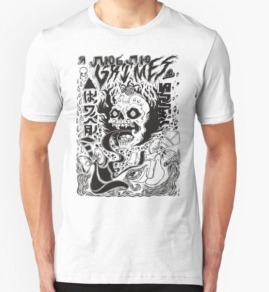 Grimes Visions Mens White T shirt Size S-3XL T Shirts Man Clothing Free Shipping top tee 100% Cotton Print Mens Summer O-Neck