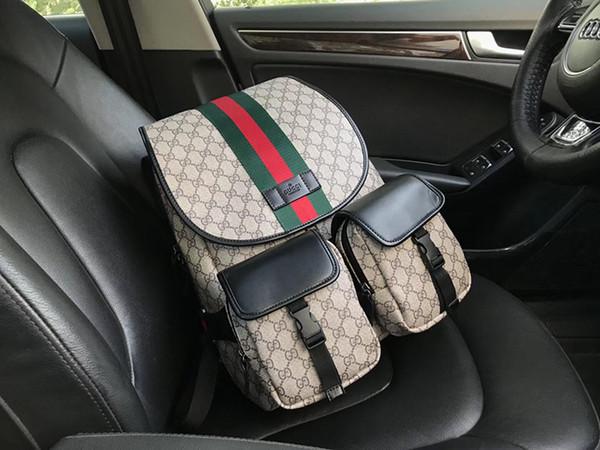 5A 2018 Luxury designer New real leather cowhide students Backpack girl teenager Laptop Waterproof Travel computer school Bag ware4 081505