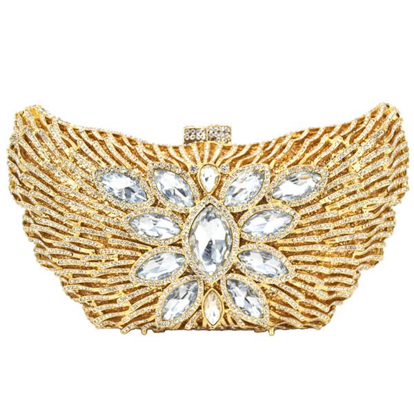 Beautiful studded Rhinestone Luxury Evening Bag Wholesale Diamond clutch bag Ladies Party Purse pochette Wedding 88179