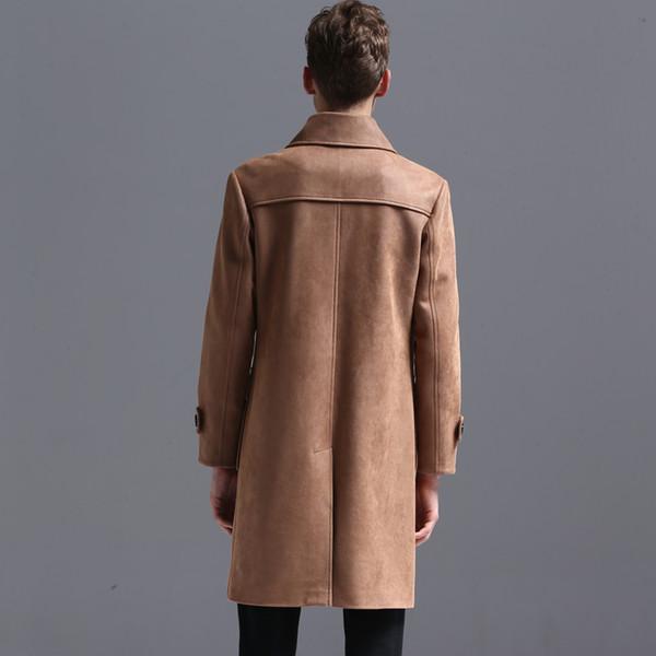 Großhandel S 6XL !!! Neue Männer Kleidung Hirschleder Samt Horn Taste Graben Mantel Herbst Winter Retro College Plus Size Oberbekleidung Mantel Von