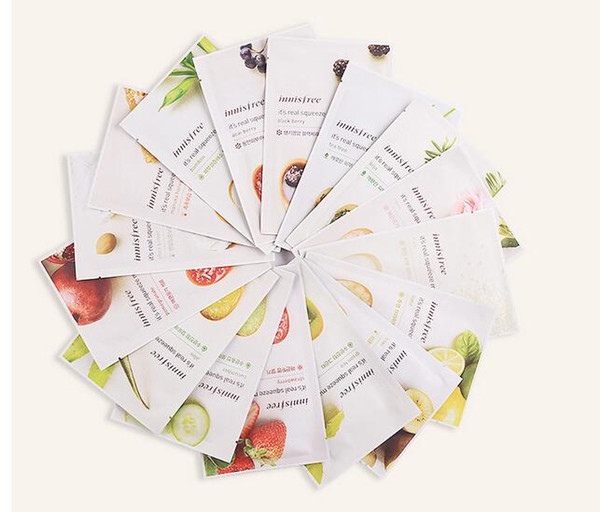 14 kinds Innisfree Squeeze Mask Sheet Moisturising Face Skin Treatment Oil-control Facial Mask Peels Skin Care