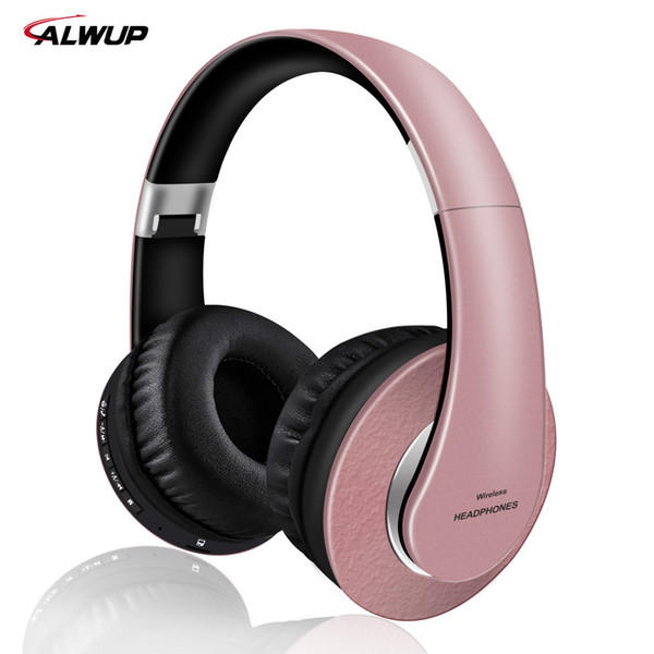 AlWUP High Quality Wireless Bluetooth Headphones for Girls Support Radio Mp3 player with Microphone 12 hours music time for pc