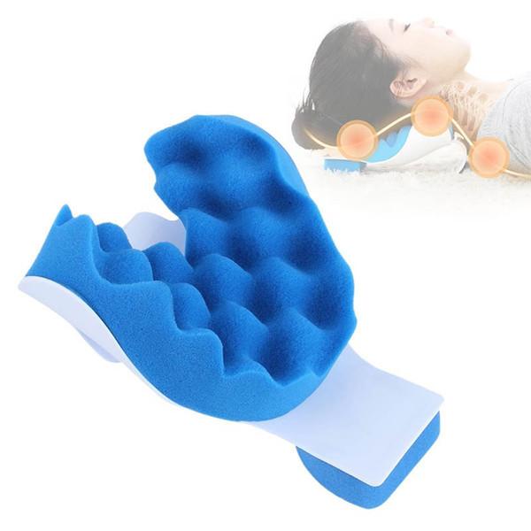1PC Fitness Massage Head Neck Tensione Rilascio Cuscino Spugna Correzione anti-stress Postura cervicale Accessori di bellezza blu