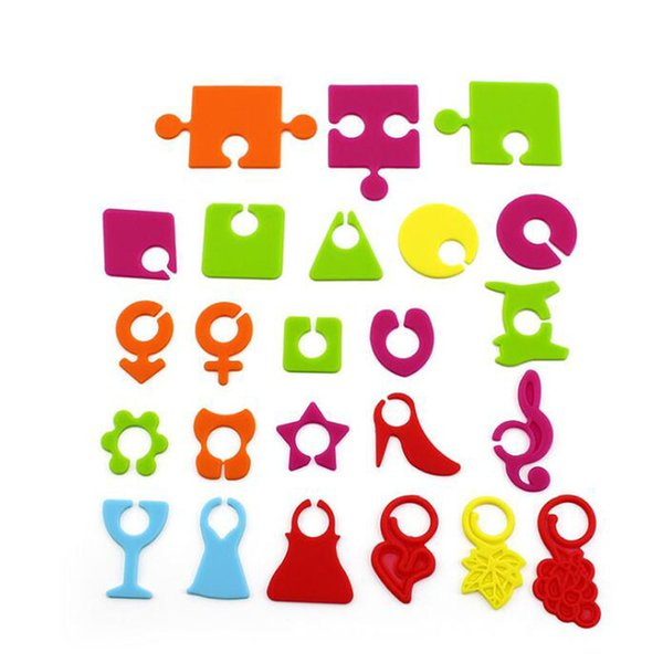 24pcs/set Silicone Wine Cup Glass Bottle Logo Recognizer Glasses Marker Label Party Supplies Barware Bar Tools QW8539