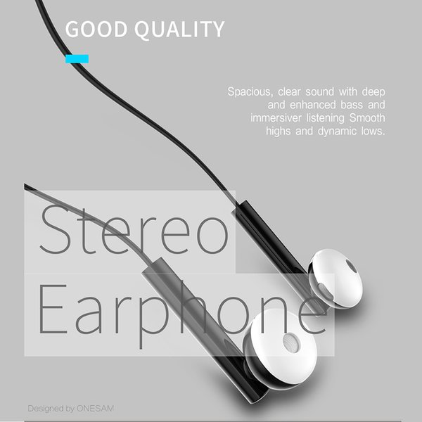 ONESAM OS-E06 Stereo Bass Headphones In Ear Earphones with Mic for Apple I5 I6S Samsung S6 S7 android mobile phone with pack 350pcs