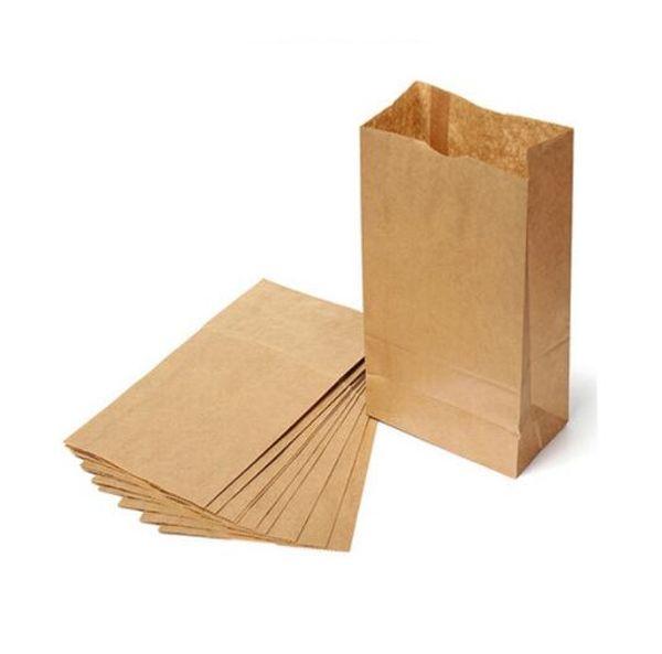 10 unids bolsa de papel Kraft Brown partido de la boda favores de pan hecho a mano galletas bolsas de regalo galletas embalaje embalaje suministros