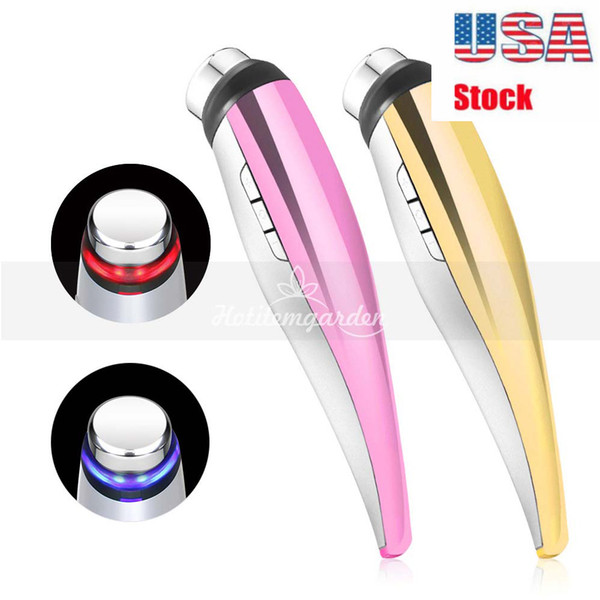 Rechargeable LED Red Blue Light Lipo Laser Therapy Photon Import Skin Rejuvenation Beauty massage handle machine