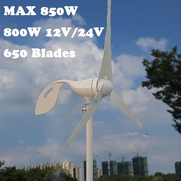 Max 850W AC 12V 24V Wind Turbine Generator 800W horizontal wind turbine with 12v 24v AUTO PWM controller