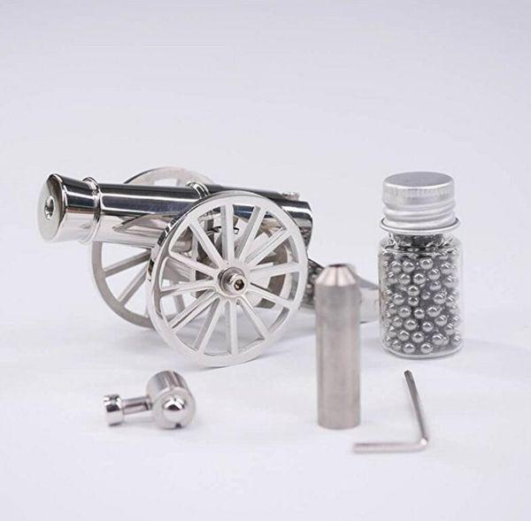 Miniatura Napoleon Cannon Metal Naval Desktop Art Model Artillery Kit para la colección
