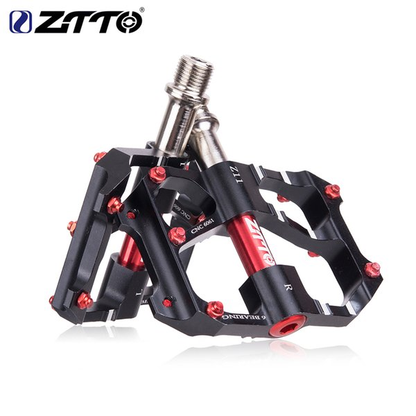 ZTTO Pedal 6 Bearings Anti-slip Pedals MTB Road Bike Ultralight Bicycle Pedal Mountain Road CNC Bike Part AL Alloy Hollow