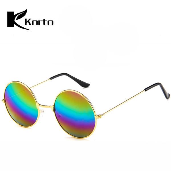 818a1d5242 Retro 80S 90S gafas de sol redondas mujeres diseñador de la marca hombres  Vintage 70S Hippie