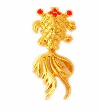 Small fish pendant necklace with gold jewelry every year more gifts for men and women