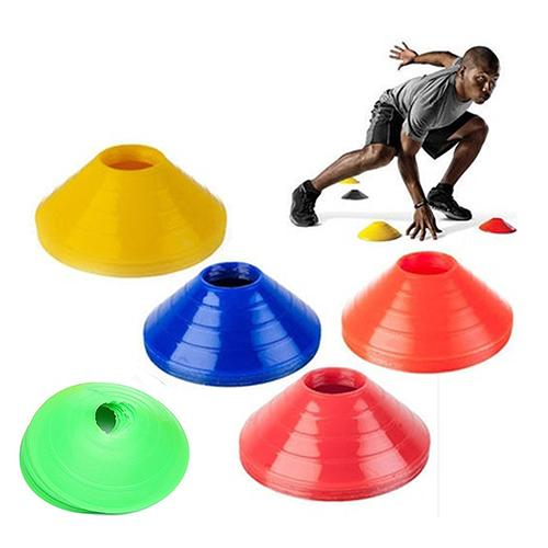 10Pcs Futebol Cruz Treinamento Track Disc Cones Sports Safety Equipment Sign
