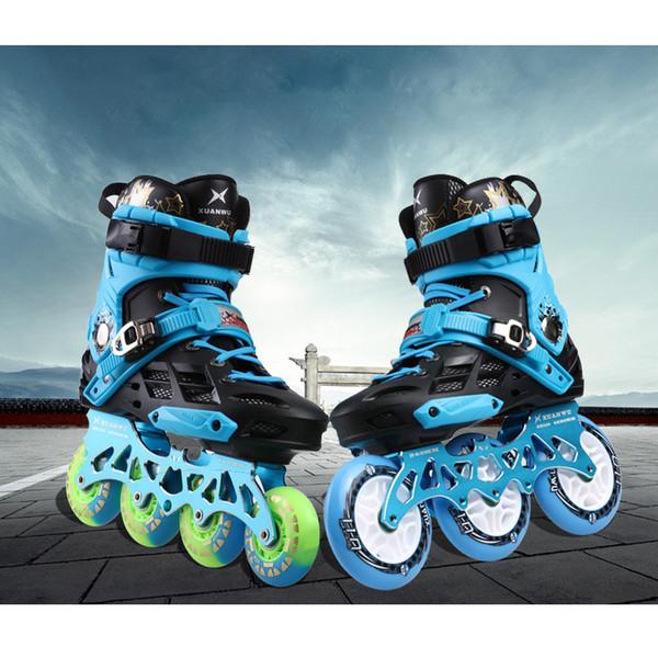 Sıcak Satış Japy Paten Profesyonel Yetişkin Paten Ayakkabı 4 * 80 Veya 3 * 110mm Değiştirilebilir Slalom Hız Patines Ücretsiz Paten Yarış Paten