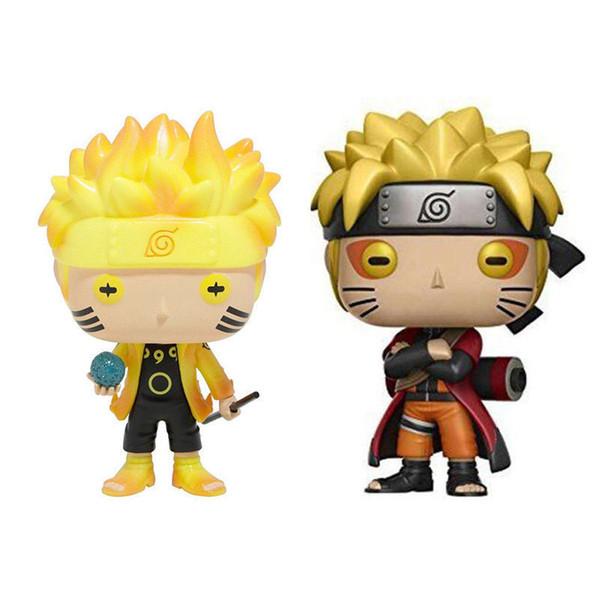 Funko Pop Animação: Naruto - Naruto Six Path / Sage Mode Vinyl Action Figure com caixa # 185 / # 186 presente boneca de brinquedo
