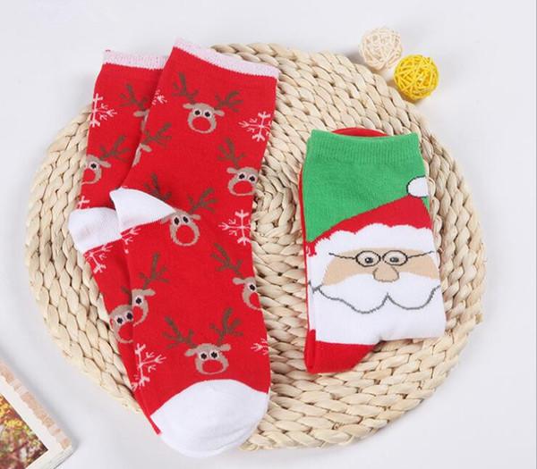 Dibujos Impresionantes De Navidad.Compre Mujeres Nuevas Medias De Navidad Calcetines Algodon Hembra Ciervos De Navidad Dibujos Animados Calcetines Otono Invierno Calcetines