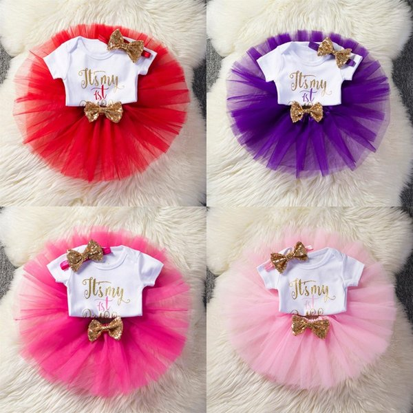 È il mio primo Compleanno 1 ° Compleanno Baby Girl Tutu Gonna Set per abbigliamento per bambini Set usura estiva