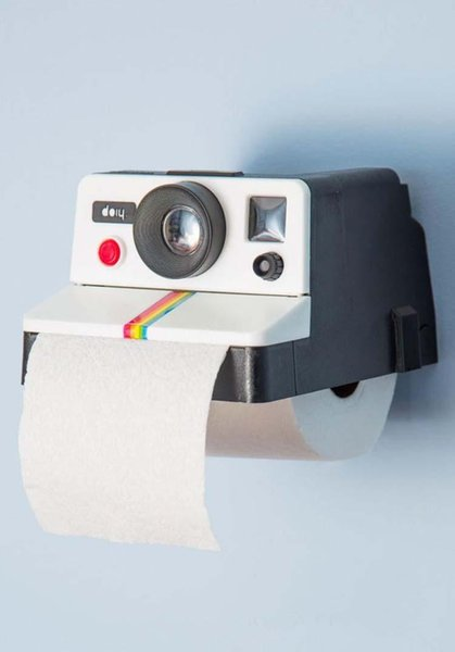 Creative fashion retro cute camera paper towel tube bathroom wall paper box home tissue pumping Toilet Paper Holders