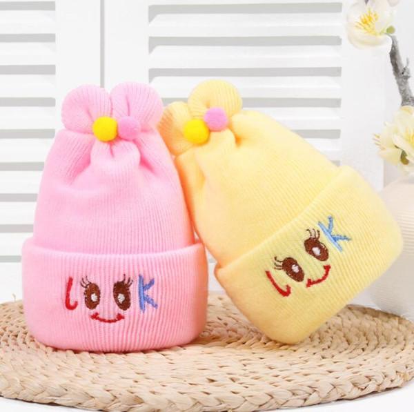 newborn Baby Hand Knitted Hat infant Lovely Dog Design Hat hospital months babies cartoon Crochet kids big eyes beanie cap