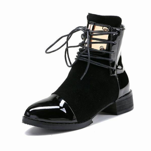 Lackleder Damen Schnürstiefel Von Aus Bz507 Leder Größe35 43 Stiefel Martin Mode Großhandel Stiefeletten Flock Schuhe Eur Echtem Heels Low zVqMpUS