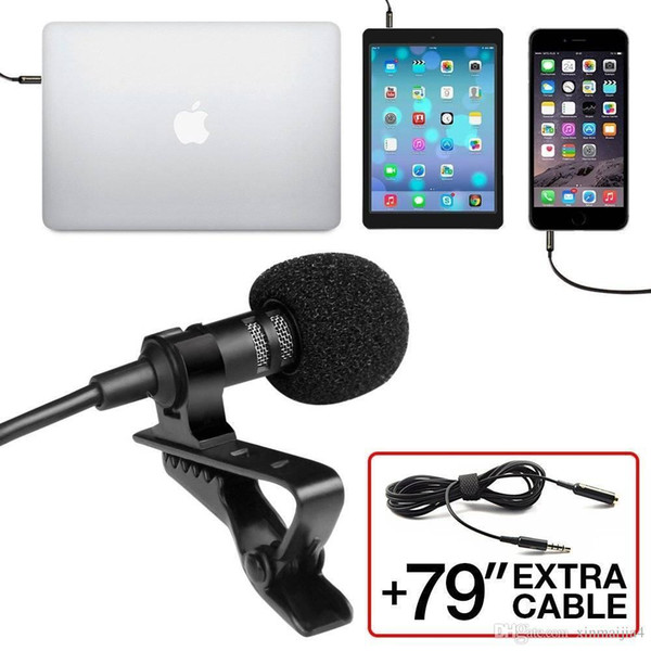 Recording Omnidirectional System Perfect Podcast Interview Mic with Clip On Lavalier Mini Lapel Microphone for Mobile Phone