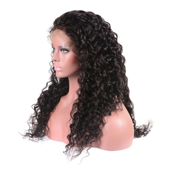 150% Density Wet And Wavy Lace Front Human Hair Wigs For Black Women Virgin Brazilian Water Wave Lace Front Wigs Natural Hairline