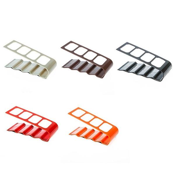 Storage Holders Desktop Remote Control Super Practical Acrylic Four Lattice Box Plastic Pinkycolor Storages Rack Creative 3 5xg V