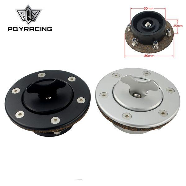 PQY - Nuova capsula carburante in alluminio billet / tappo serbatoio carburante a incasso montaggio a incasso 6 bulloni specchio lucido apertura ID 35,5 mm PQY-SLYXG01
