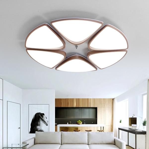 Fantastisch Freies Verschiffen Moderne Led Deckenleuchten Unterputz Lampe Metall Malerei  Acryl Beleuchtung Für Wohnzimmer Bett Esszimmer Foyer