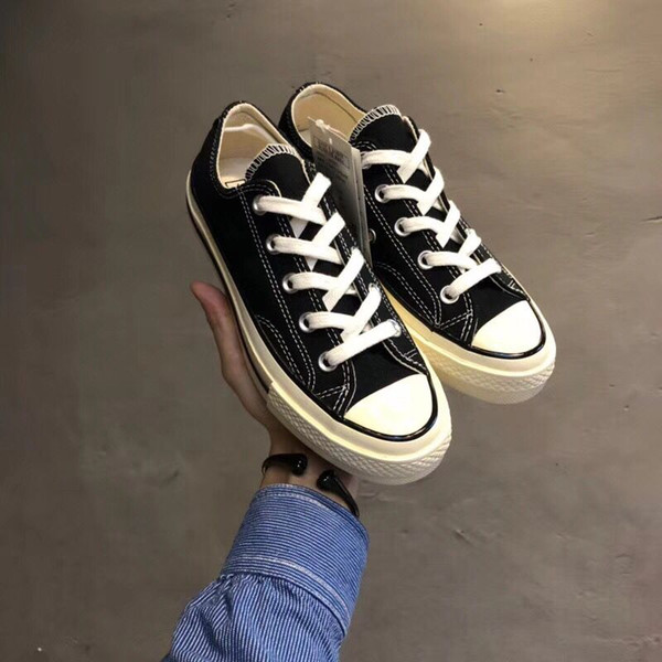 NEW Famous brand Unisex 1970S conv shoes Low Top High Top Adult Men's Canvas Shoes Laced Up Casual Shoes woman Gym Sneaker shoe BLACK clearance websites best seller sale online wAyMIG