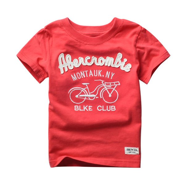 T Shirt For Boys Summer Clothes Kids Clothing For Boy Children Cotton Short Sleeve T -Shirt With Bicycle Pattern Free Shipping