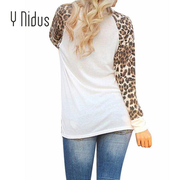 41a364c9cc Pullover Básica Jersey Tops Manga Camisetas Feminina Cuello Mujer Leopard  Larga Redondo Camiseta Con Harajuku De Blusas Otoño 2018 qxHw7npAR
