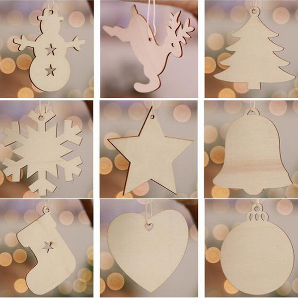 Hanging Christmas Decorations Diy.2019 New Christmas Xmas Tree Ornaments Christmas Decorations Diy Christmas Snowflakes Deer Tree Wooden Hanging Ornaments Kids Gift Cca10142 30lot From