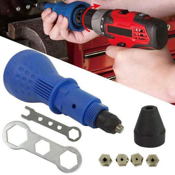 Dropshipping 2018 Electric Rivet Nut Gun Riveting Tool Cordless Riveting Drill Adaptor Insert Nut Tool Drill Adapter
