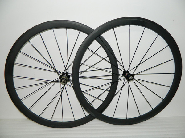 free shipping carbon wheelset bikes 700c 38mm OEM carbon clincher wheels for road bicycle wheel novatec hubs 23mm wide road rims carbon bike
