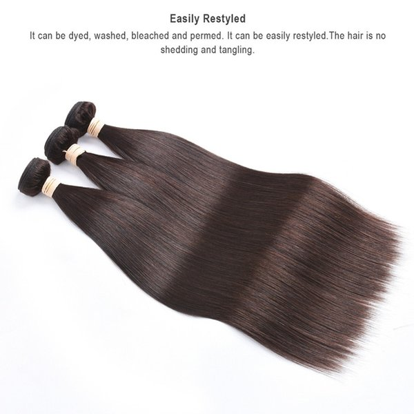Dark Brown Color Human Hair Extensions 100g 16 18 20 22 24 26 inch Brazilian Indian Hair Weft 300g one Lot