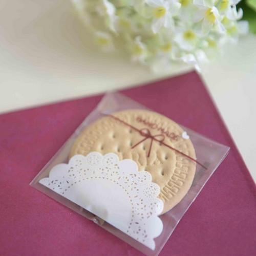 Wholesale 7*7cm Self Adhesive Hand Made Letter Cookie Packaging Storage Bags For Biscuit Snack Cupcake Baking Pack 400Pcs/ Lot