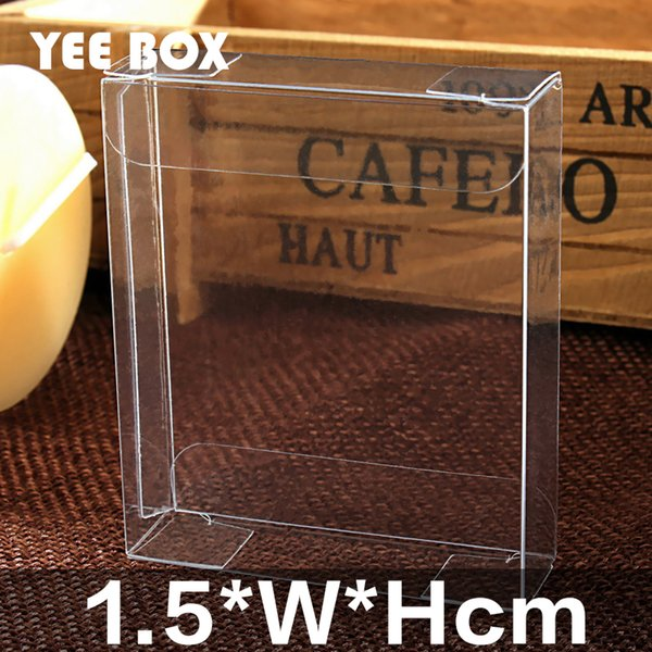 50pcs/lot 1.5*W*Hcm Spot PVC clear plastic box/ Box used to display album,wedding gift, notebook etc.
