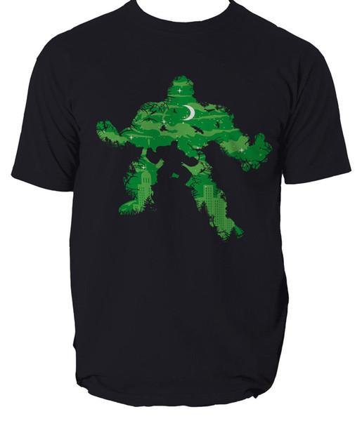 GREEN MONSTER HULK Herren T-Shirt T-Shirts Demogordon S-3XL lustiges Geschenk Kurzarm T-Shirt Tops Rundhals T-Shirts