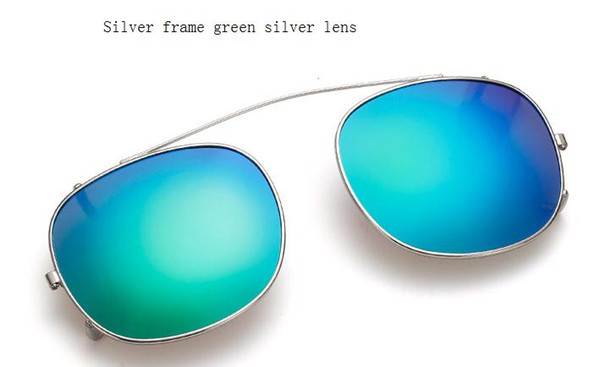 silver frame green silver lens