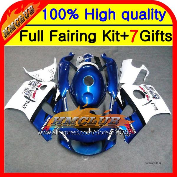 Cuerpo para azul blanco R750 96 97 98 99 00 HM064 GSX R600 SRAD GSXR 600 750 Fábrica azul 1996 1997 1998 1999 2000 Carenado
