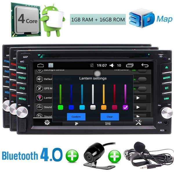 EinCar Backup Camera+Android 6.0 Car DVD Player Double 2 Din Car Stereo Touch Screen 6.2'' In Dash GPS Navigation Auto Radio