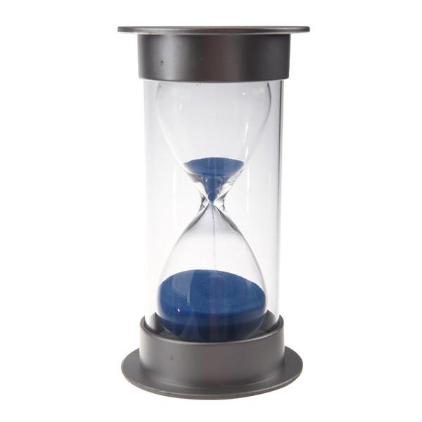 Plastik Kristal Sandglass 30 Dakika Kum Saati Dekorasyon Kum Saati Zamanlayıcı mavi