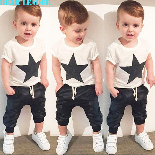 7bf18db18 Bear Leader 2016 summer style baby boy clothes fashion baby girl clothing  set casual pentagram printed