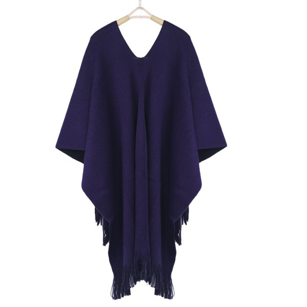 Women Winter Knitted Cashmere Poncho Capes Shawl Cardigans Sweater Coat Elegant Womens warm scarves