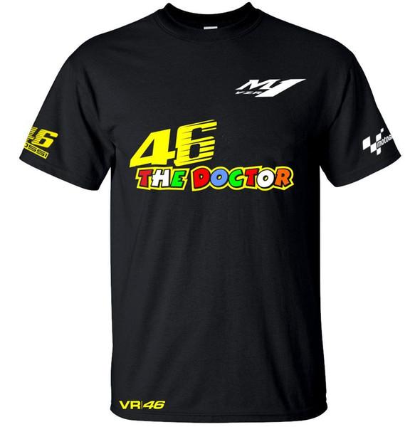 2018 VR 46 Moto GP Der Doktor Riding Wicking T-Shirts Männer Schnell trocknendes T-Shirt Motorradrennsport Trikot Tops