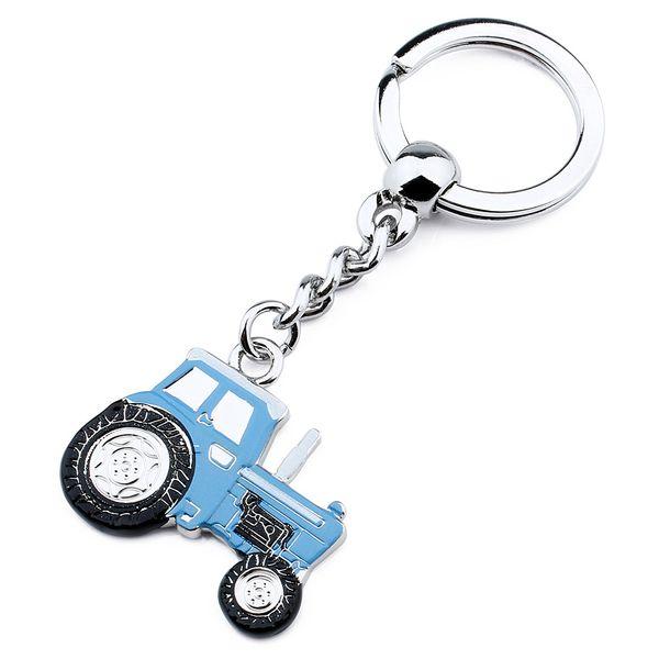 Portachiavi a forma di anello con chiave a forma di anello portachiavi da 3,5 pollici a forma di smalto rosso e blu